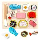 frutas y verduras juguete para cortar, Puzzles de Madera juguetes,Rompecabezas madera,Juguetes Rompecabezas de Madera,Puzzles de Madera Magnético,Juguetes Montessori Comida (cocina japonesa)
