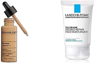 Dermablend Flawless Creator Multi-Use Liquid Foundation, 48N + La Roche-Posay Toleriane Double Repair Face Moisturizer