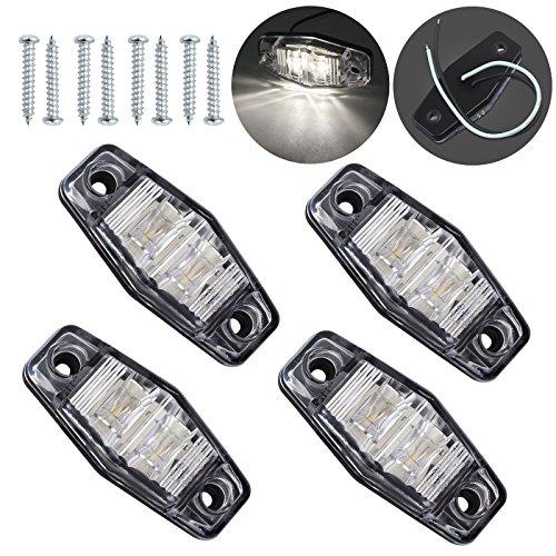Justech 4 x 2 Dioden Seite Marker Lights Seite Fender Marker Montage Wasserdicht LED Position Seite Lampen Seitenmarkierungsleuchten Markierungsleuchten