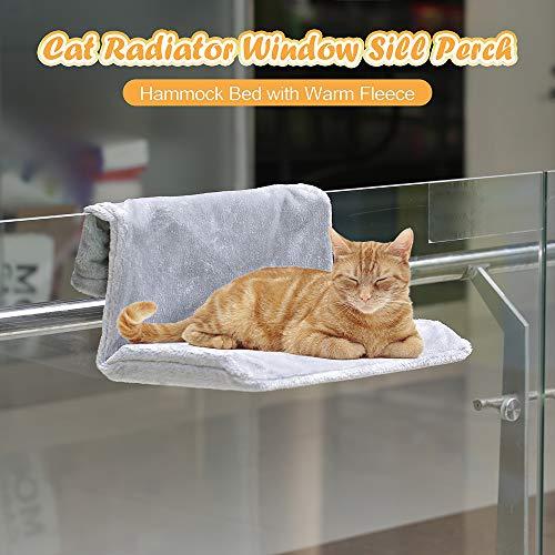 Decdeal kat verwarming bed pluche ligbed kattenbed hangmat kat verwarming ligstoel voor katten tot 33 lbs