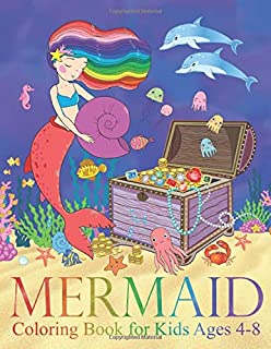 Mermaid Coloring Book for Kids Ages 4-8: 40 Cute, Unique Coloring Pages