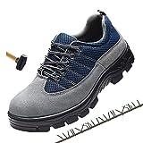 Zapatos Protección Puntera Acero Zapatillas Seguridad Transpirable SRC/S1P,EU42/UK8