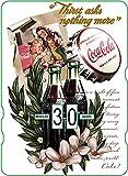 Calendario perpetuo vintage CocaCola 'Thirst Asks Nothing More'