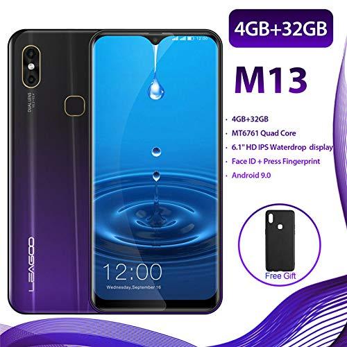 M13 Smartphone Desbloquear móvil, 4 GB + 32 GB, Teléfono móvil Android 9.0, 6.1