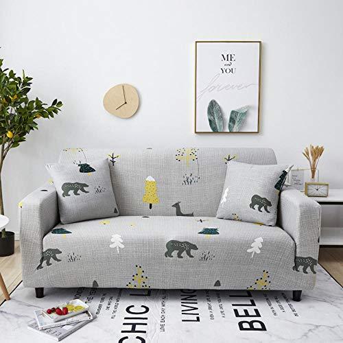 Allenger Cubierta para sofá con Cuerda de fijación,Funda de sofá elástica Estampada de Primavera, Verano, otoño e Invierno, Funda de sofá Todo Incluido Antideslizante y a Prueba de polvo-16_230-300cm