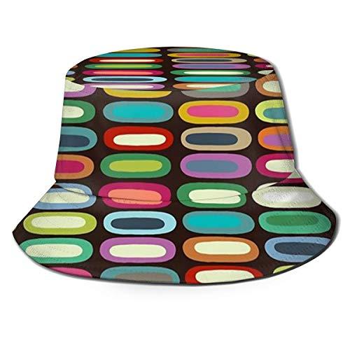 Fisherman's Hat New York Lozenge Chocolade Opvouwbare Omkeerbare Unisex Volwassen Mode Emmer Cap Zomer Visser Hoed Outdoor Cap, Veel Patronen