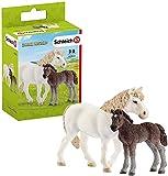 SCHLEICH- Giumenta Pony e Puledro, 42423