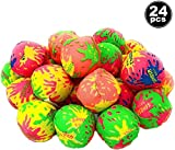 4E's Novelty 24 Splash Water Balls Bombs - for Pool Water Bomb Toys - Soaker Balls - Summer Pool Beach Party Favor for Kids | Mini 2 Inch