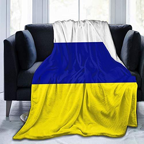 SUGARHE Manta de Franela Suave,Leeds United Tricolor,Cama de Camping para sofá 204x153cm
