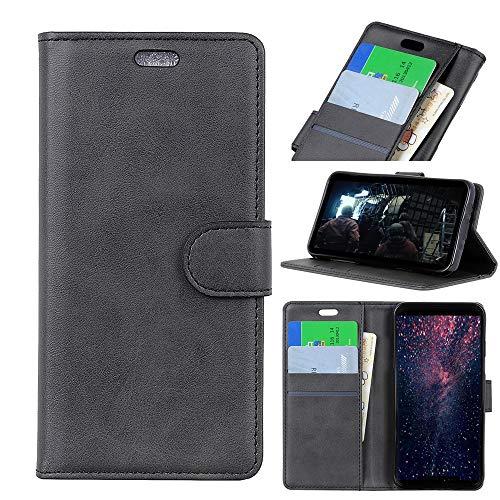 jbTec Handy Hülle Hülle - Handyhülle Schutzhülle Phone Cover Tasche Handytasche Zubehör Smartphone Klapphülle Flip, Farbe:Schwarz, passend für:Samsung Galaxy J4 Core