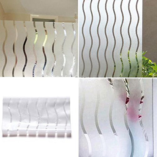 Bazaar Film de fenêtre givrée vinyle vitraux papier ondulé vie privée couvrant
