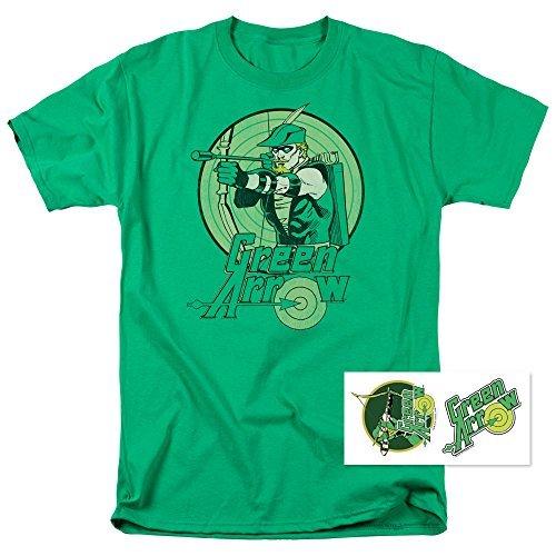 Green Arrow Robin Hood DC Comics T Shirt & Stickers (X-Large)