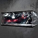 ColiCor Estuche de acrílico con luz para LEGO 76023 DC Comics Batman, caja de exhibición a prueba de polvo compatible con Lego 42083