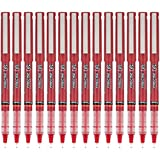 PILOT Precise V5 Stick Liquid Ink Rolling Ball Stick Pens, Extra Fine Point (0.5mm) Red, 14-Pack (15409)