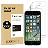 iVoler [4 Pack] Pellicola Vetro Temperato per iPhone 8 Plus/iPhone 7 Plus/iPhone 6S Plus/iPhone 6 Plus [Garanzia a Vita], Pellicola Protettiva, Protezione per Schermo - Transparente