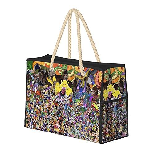 Bom-Bing Pok-Emo-Ny Fashion Travel Beach Bag Grande Capacità Multifunzionale Pieghevole Signora Borsa Carino Anime Regalo