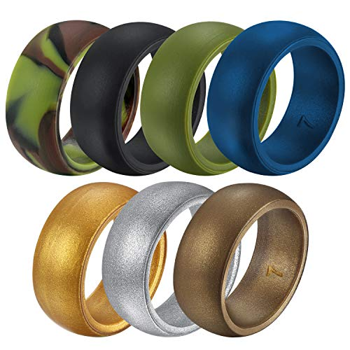 Untouchble Wedding Bands Silicone Wedding Ring for Mens Athletes...
