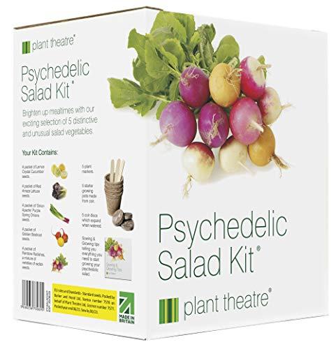 Kit Psychedelischer Salat von Plant Theatre - 5 fantastische Salatsorten zum Züchten - Ein tolles Geschenk