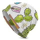 ZVEZVI Vector Cacti y Suculentas en Ollas Knit Beanie Sombrero de...