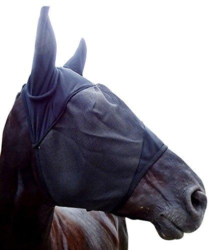 Markenlos Hochwertige Fliegenmaske inkl. Ohren in verstärkter Ausführung