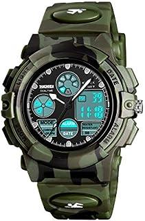 Reloj deportivo digital para niños, para niñas, impermeable, deportivo, al aire libre, para niños, informal, electrónico, analógico, de cuarzo, con alarma, cronómetro.
