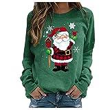 Zilosconcy Sudadera Navidad Mujer Jersey Navideño Feo Sudaderas Navideñas Mujer Divertido Pullover Navidad Patrón de Astas Ugly Jerseys Navideños Chica Talla Grande Sueter Anchas
