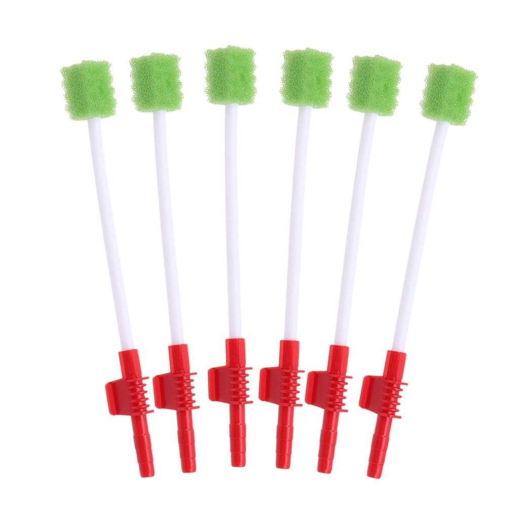虚偽フライカイト占めるHealifty 使い捨ての口腔ケア綿棒吸引口腔スワブスポンジ歯ブラシ10個