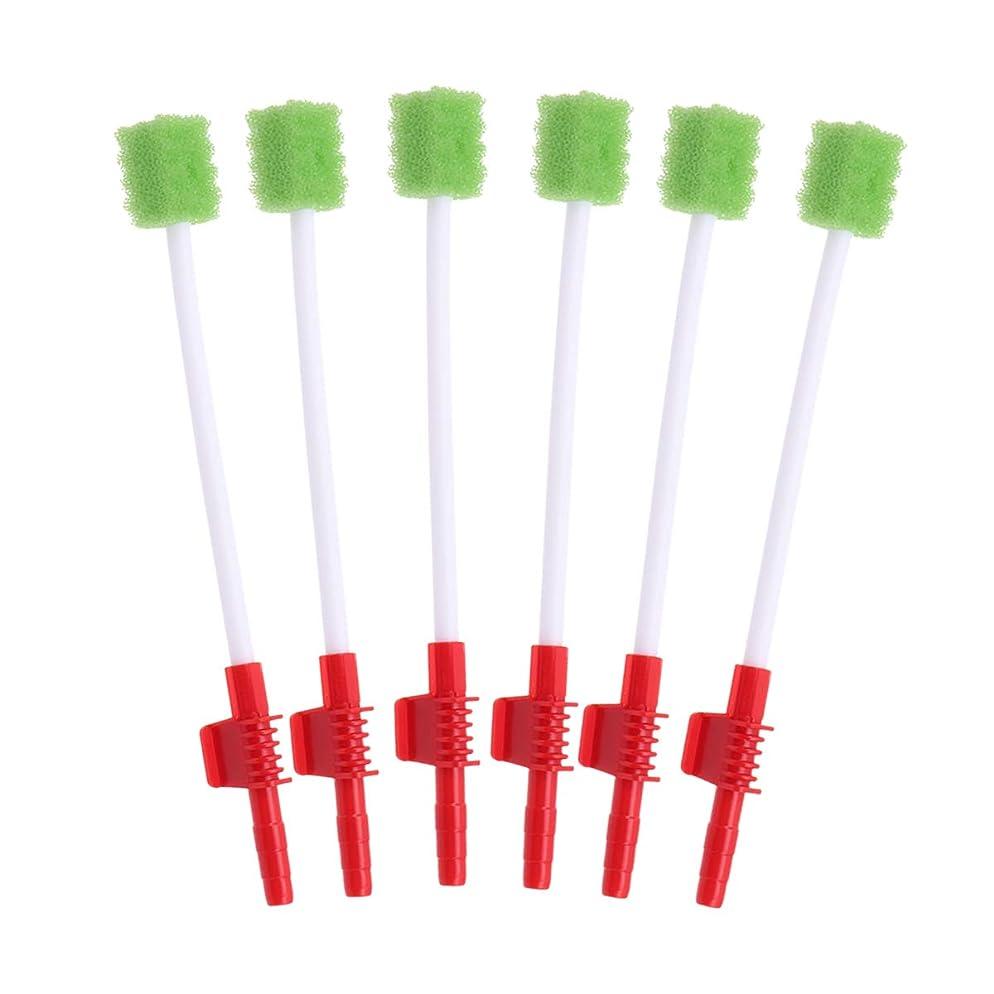 藤色ラッシュもちろんSUPVOX 10個使い捨て吸引綿棒口スポンジスティック経口吸引チューブ