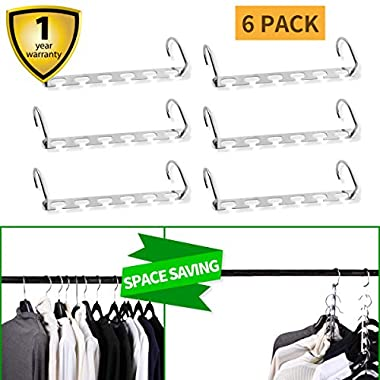 U.Smile Space Saving Hangers Save 2/3 of the Wardrobe Space as Seen on Tv Hangers Closet Space Saver Closet Organizer Hangers Metal