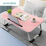 Portable Mobile Laptop Tisch Beistelltisch Lazy Tischbett Tisch Laptop Schreibtisch Bett, Laptop Tablett Faltbar mit Read Sofa-S