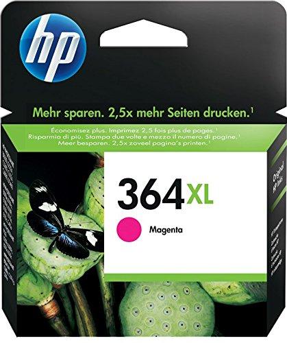 HP 364XL CB324EE Cartuccia Originale ad Alta Capacità, 750 Pagine, per Stampanti a Getto di Inchiostro Photosmart B210c, B110c, B110e, B8550, 7520, Deskjet 3520, 3522, 3524, Magenta