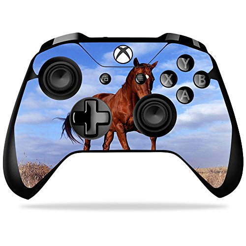 MightySkins Skin Compatible with Microsoft Xbox One X Controller - Horse | Protective, Durable, and Unique Vinyl Decal wrap Cover | Easy to Apply, Remove, and Change Styles | Made in The USA