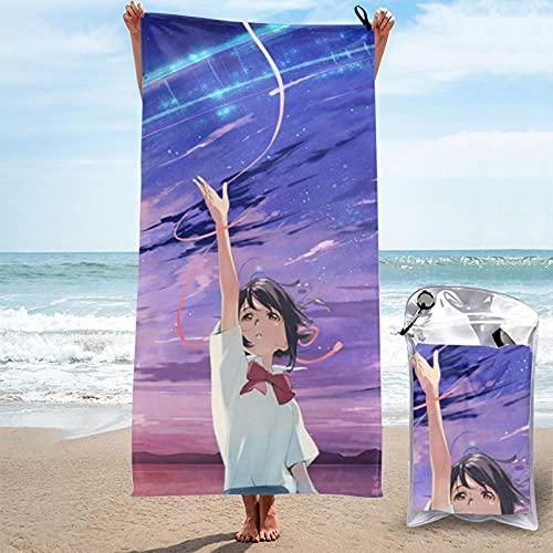 Impresionante Miyamizu Mitsuba su nombre Tachibana figuras toallas de baño ropa de baño baño baño sol día infantil regalo grande unisex impresión 3D Pascua