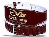 EVO Fitness - Gewichtheber Gürtel 6' aus Reinem Leder Bodybuilding Rücken Unterstütung Bandage -...