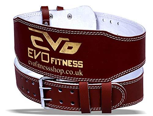 EVO Cinturón de Gimnasia de Piel Genuina 15cm para Levantamiento de Pesas Faja de Espalda para Culturismo - M 🔥