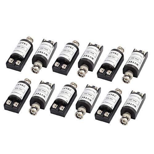 sourcing map 6pzas Adaptador de Cable Coaxial Pasivo Balun Transceptor de cámara de vídeo Conector BNC