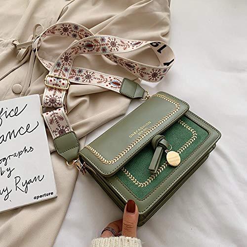 Tasche Kontrastfarbe Leder Umhängetaschen Für Frauen Reisetasche Schulter Frauentasche Einfache Umhängetasche Crossbody Bag Matcha