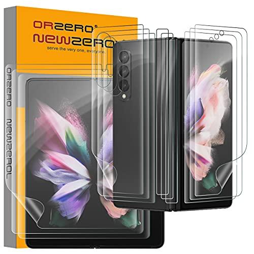 NEWZEROL 3 Pezzi Compatibile per Samsung Galaxy Z Fold 3 Pellicola Salvaschermo + Pellicola Salvaschermo Interna + Pellicola Posteriore + Pellicola per Cerniere [Alta Definizione] [Copertura Massima]