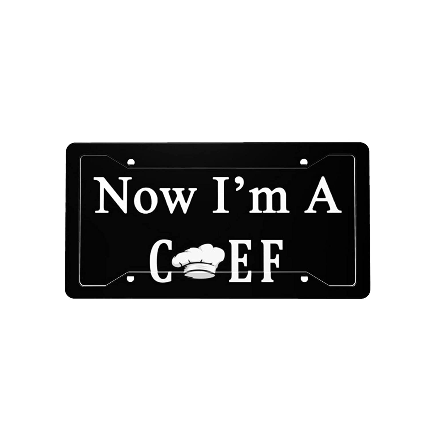 Now I'm A Chef Cheap sale License Plate Licens Car New Free Shipping Front Vanity Decorative