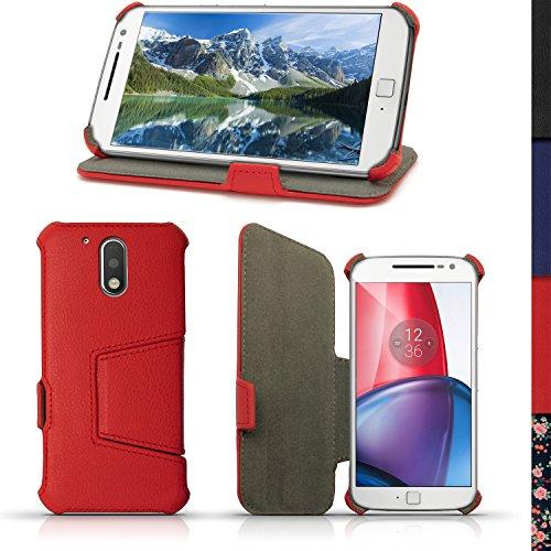 iGadgitz U5348 Funda Compatible con teléfono móvil Folio Rojo -(Folio, Motorola, Moto...