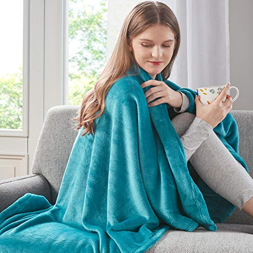DEGREES OF COMFORT Fleece Throw Blankets for Couch -...