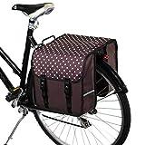 BikyBag Clásica - Doble Alforjas para Bicicletas (Lunares en marrón)