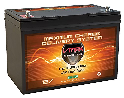 VMAX SLR100 12V 100ah Solar Deep Cycle Battery for RV