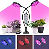 Lámpara de Plantas, 711light Lámpara de Crecimiento, Plantas Led Grow Light con 3 Modos de Lluminación, 5 Niveles Regulables para Jardinería, Rotación de 360°y Función de Temporizador