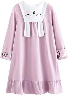 Allmeingeld Gattino Camicie da Notte Bambine e Ragazze Cotone Pigiami e Vestaglie per 3-10 Anni