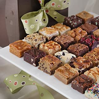 Brownie Points Baby Brownie Thirty - 30 of our 1.5 inch Brownies in a Signature Gift Box with Ribbon