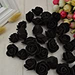 fake flowers artificial roses pe foam flowers roses flower head roses artificial flowers wedding decoration diy party festival home scrapbooking gift box diy wreath flower wall decor 50pcs (yellow)