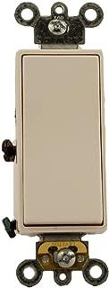 Leviton 5623-2W 20 Amp, 120/277 Volt, Decora Plus Rocker 3-Way AC Quiet Switch, Commercial Grade, White