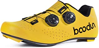 OneChange Men's Cycling Shoes, Profession Road Cycling Shoes Lightweight Breathable Unisex Outdoor Road Racing Shoes (Color : Yellow, Size : 39EU)
