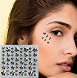 Gem Glitter Make Up Gem Sticker joyas faciales RG08 Estrellas